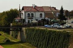 Le voisinage du château dans la ville de Dubno, région de Rivne , L'Ukraine photos stock