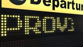 Le vol à Providence sur des départs d'aéroport international embarquent Déplacement à l'introduction conceptuelle des Etats-Unis illustration libre de droits
