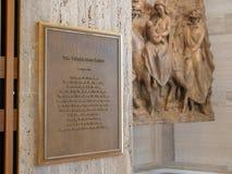 Le vol dans l'histoire de plaque de l'Egypte et peinture murale à la cathédrale du saint Mary Of The Assumption images libres de droits