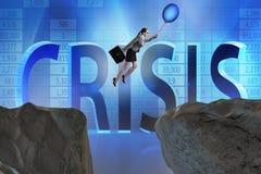 Le vol de femme d'affaires tenant le ballon Photo libre de droits