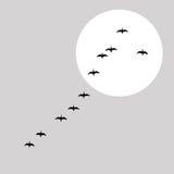 Le vol penche la silhouette illustration de vecteur