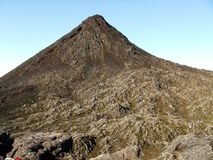 Le volcan de Pico images libres de droits