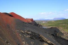 Le volcan Raudholar Images libres de droits