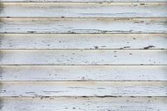 Le volet en bois rayé blanc Image libre de droits