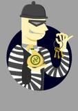 Le voleur avec une clé Image stock