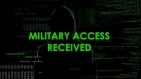 Le voleur de cyberespace a reçu l'accès militaire, remarquant le système de données de gouvernement banque de vidéos