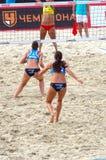 Le volleyball 2015 de plage de tournoi de claquement de glande de Moscou Russie Moscou 31 peut 2015 Image stock