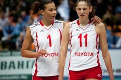 Le volleyball des femmes Images stock