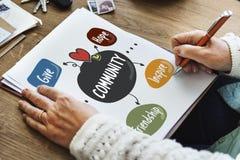 Le volontaire de charité de donations exprime le concept Photos libres de droits