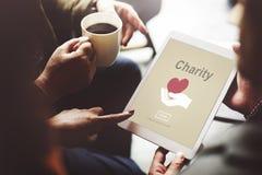 Le volontaire de charité donnent le concept de symbole de main Photos libres de droits