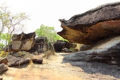 Le volume de la pierre étonnante dans Mukdahan Image libre de droits