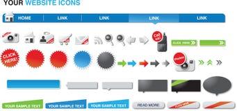 Le vostre icone di Web site fotografie stock libere da diritti