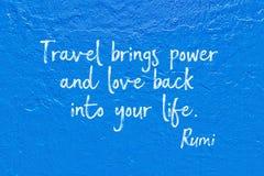 Le voyage apporte Rumi Photo stock