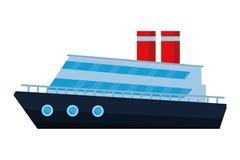Le voyage commercial de loisirs de vacances de cruiseship a isolé illustration libre de droits