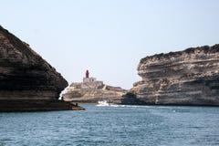 Le voyage de bateau autour de l'île de la Corse Photographie stock