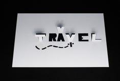 Le voyage de mot coupé du papier, Image libre de droits