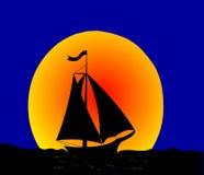 Le voyage de nuit sur le pélerin. Photos libres de droits