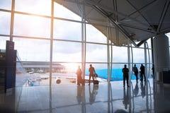 Le voyage de vacances, embarquement, prennent le survol d'avions Photographie stock