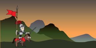 Le voyage du chevalier Illustration Stock