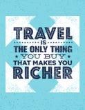 Le voyage est la seule chose que vous pouvez acheter qui vous rend plus riche Concept exceptionnel de citation de motivation de t illustration de vecteur