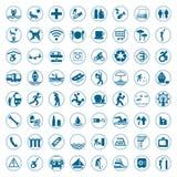 Le voyage et les signes et les symboles de tourisme dirigent l'illustration Images libres de droits