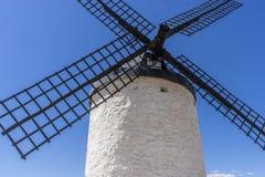 Le voyage, moulins à vent de Consuegra en Toledo City, ont été employés pour grimacer images libres de droits