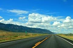 Le voyage par la route final Image stock