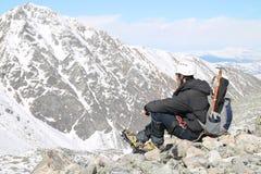 Le voyage par les montagnes du Thibet Photographie stock