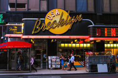 Le wagon-restaurant de Brooklyn, Manhattan, NYC image stock