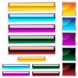 Le Web boutonne des couleurs assorties lustrées Image libre de droits