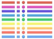 Le Web boutonne des couleurs claires Photos stock