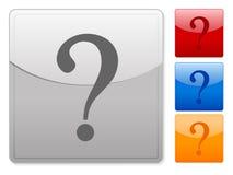 Le Web boutonne la question Images stock