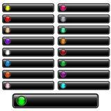 Le Web boutonne lustré noir Images libres de droits