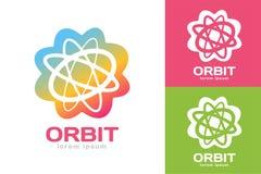 Le Web d'orbite de technologie sonne le logo Images stock