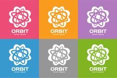 Le Web d'orbite de technologie sonne le logo Images libres de droits