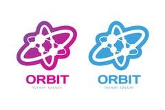 Le Web d'orbite de technologie sonne le logo Image stock
