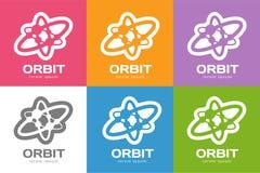 Le Web d'orbite de technologie sonne le logo Photographie stock libre de droits