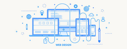 Le web design amincissent la ligne illustration de vecteur