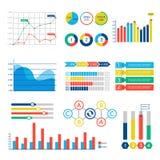 Le web design d'Infographic dresse une carte des éléments de vecteur illustration stock