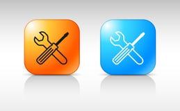 Le web design du service usine l'icône Photos stock