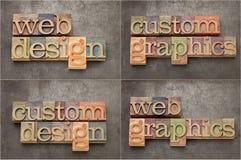 Le Web et les dessins conçoivent en fonction du client image stock