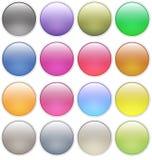 Le Web lustré boutonne des graphismes Photographie stock