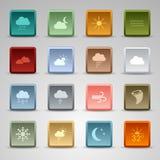 Le Web réglée coloré de place boutonne le temps Photographie stock libre de droits
