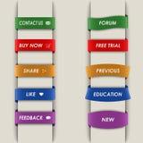 Le Web vertical coloré bookmarks le fond Photo stock