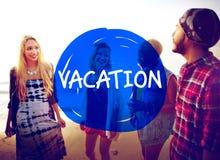 Le week-end de vacances détendent le concept de vacances de voyage Photos stock