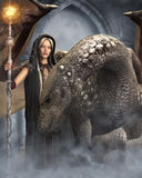 Le whisperer de dragon Photographie stock libre de droits