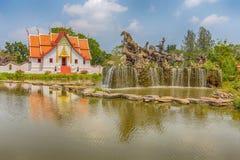 Le Wihan chez Wat Phumin, Nan, ville antique, Samut Prakan, Thaïlande photographie stock