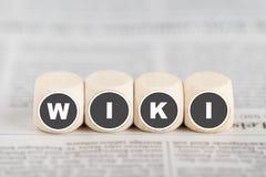 Le wiki de mot sur des cubes Image stock
