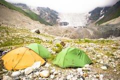 Le wint coloré de paysage d'été fleurit dans les montagnes de Geongia Image stock