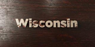 Le Wisconsin - titre en bois sale sur l'érable - image courante gratuite de redevance rendue par 3D illustration de vecteur